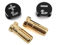 1UP Racing LowPro Bullet Plug Grips w/5mm Bullets (Black/Black)   product-related
