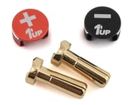 1UP Racing LowPro Bullet Plug Grips w/4mm Bullets (Black/Red) | product-related