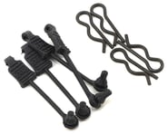 Arrma 1/8 Body Clips w/Rubber Retainers (Black) (4) | product-also-purchased