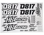 HB Racing D817 Sticker sheet | product-also-purchased
