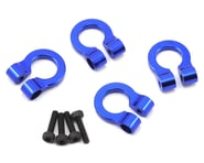 Hot Racing 1/10 Aluminum Tow Shackle D-Rings (Blue) (4) | product-related