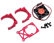 Hot Racing Clip-On Two-Piece Motor Heat Sink w/Fan (Red) | product-related