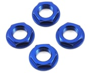 King Headz 17mm Coarse Thread Flanged Wheel Nut (Blue) (4) | product-related