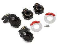 Samix Traxxas TRX-4 Brass Steering Knuckle, Portal Cover & Scale Brake Rotor Set | product-related