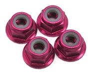 Traxxas 4mm Aluminum Flanged Serrated Nuts (Pink) (4) | product-related