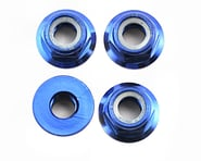 Traxxas Nuts, 5mm flanged nylon locking (aluminum, blue-anodized) (4) | product-related
