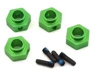 Traxxas TRX-4 12mm Hex Aluminum Wheel Hubs (Green) (4)   product-related