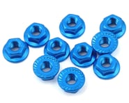 Yeah Racing 4mm Aluminum Serrated Lock Nut (10) (Blue)   product-also-purchased
