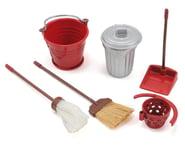Yeah Racing Scale Crawler Garage Set w/Broom, Dustpan, Mop, Bucket, Garbage Can | product-related