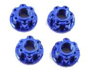 Yeah Racing 4mm Aluminum Serrated Wheel Lock Nut (4) (Dark Blue) | product-related