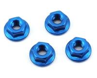 175RC Aluminum 4mm Serrated Wheel Nuts (Blue)