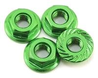 175RC Aluminum 4mm Serrated Wheel Nuts (Green)