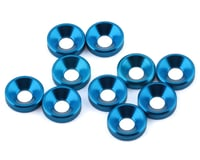 1UP Racing 3mm Countersunk Washers (Blue) (10)