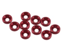1UP Racing 3mm Countersunk Washers (Red) (10)