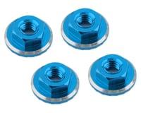 1UP Racing Lockdown UltraLite 4mm Serrated Wheel Nuts (Bright Blue) (4) (Losi 22 5.0 Elite)