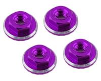 1UP Racing Lockdown UltraLite 4mm Serrated Wheel Nuts (Purple) (4) (Losi 22 5.0 Elite)