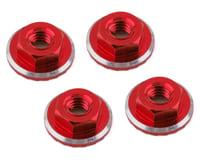 1UP Racing Lockdown UltraLite 4mm Serrated Wheel Nuts (Red) (4) (Losi 22 5.0 Elite)