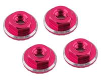1UP Racing Lockdown UltraLite 4mm Serrated Wheel Nuts (Pink) (4) (Losi 22 5.0 Elite)