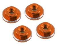 1UP Racing Lockdown UltraLite 4mm Serrated Wheel Nuts (Orange) (4) (Losi 22 5.0 Elite)