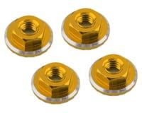 1UP Racing Lockdown UltraLite 4mm Serrated Wheel Nuts (Gold) (4) (Losi 22 5.0 Elite)