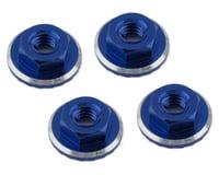 1UP Racing Lockdown UltraLite 4mm Serrated Wheel Nuts (Dark Blue) (4) (Losi 22 5.0 Elite)