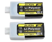 Align T-Rex 150X 2S1P LiPo Battery 30C (7.4V/300mAh)