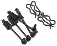 Arrma Kraton 6S BLX 1/8 Body Clips w/Rubber Retainers (Black) (4)