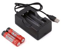 Arrma ADC-L2 Li-Ion Charger w/Two Li-Ion 18650 Batteries