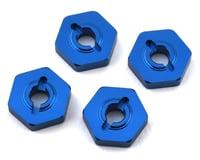 Team Associated Reflex 14T Factory 14B/14T Aluminum Wheel Hexes (Blue) (4)
