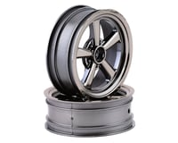 "Team Associated DR10 2.2"" Drag Racing Front Wheels (Black Chrome) (2)"