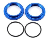 Team Associated RC10 B6.1 12mm Big Bore Threaded Collar (Blue) (2)