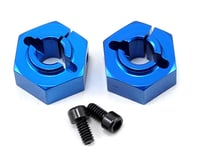Team Associated RC10 B4.1 12mm Aluminum Rear Clamping Wheel Hex Set (Blue) (2)