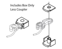 Athearn N F/FP45 COUPLER BOX & COVER (6pr)