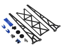 """DragRace Concepts 10"""" Slider Wheelie Bar w/Plastic Wheels (Blue)"""
