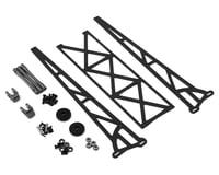"DragRace Concepts 10"" Slider Wheelie Bar w/Plastic Wheels (Grey)"