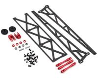 "DragRace Concepts DRC1 Drag Pak 10"" Slider Wheelie Bar w/Plastic Wheels (Red) (Mid Motor)"