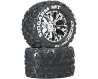 """DuraTrax Sidearm MT 2.8"""" Mounted 1/2"""" Offset C2 Tires, Chrome (2)"""
