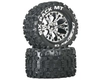 """DuraTrax Six-Pack MT 2.8"""" 2WD Mounted Front C2 Tires, Chrome (2)"""