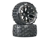 """DuraTrax Pistol ST 2.8"""" 2WD Mounted Front C2 Tires, Black (2)"""