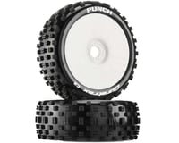 DuraTrax Punch C2 Mounted Buggy Tires, White (2)