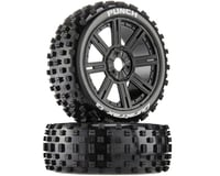 DuraTrax Punch C2 Mounted Buggy Spoke Tires, Black (2)