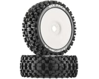 DuraTrax Six-Pack C2 Mounted Buggy Tires, White (2)