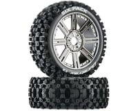 DuraTrax Six-Pack C2 Mounted Buggy Spoke Tires, Chrome (2)