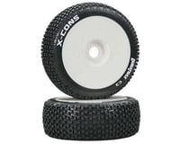 DuraTrax X-Cons Pre-Mounted  1/8 Buggy Tires (White) (2)