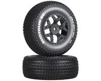 DuraTrax Shotgun SC 1/10 Mounted Truck Tires (Black) (2) (TEN-SCTE) (Losi TEN-SCT Nitro)