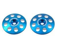 Exotek 22mm 1/8 XL Aluminum Wing Buttons (2) (Blue) (Serpent S811 Cobra)