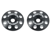 Exotek Flite V2 16mm Aluminum Wing Buttons (2) (Black) (Yokomo YZ-4)