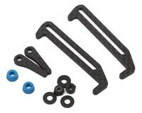 Exotek Carbon Fiber B6.1/B6.1D LiPo Tabs & Cups Set (Battery Brace)