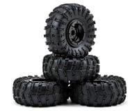 "Gmade G-Air 2.2"" Beadlock Rock Crawler Wheels w/Tires & Accessories (4) (Black) (GMade R1)"