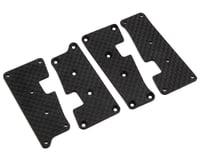 HB Racing Carbon Fiber Suspension Arm Cover Set (Graphite)